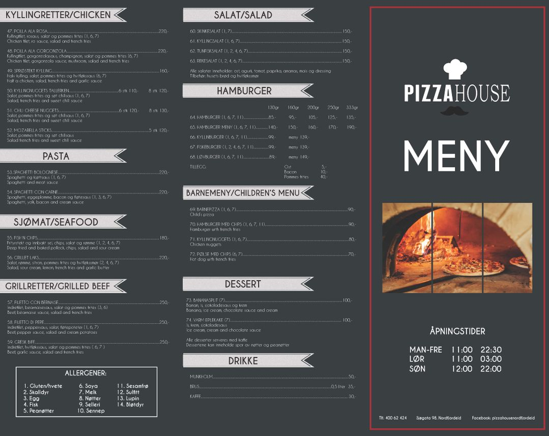 Pizza House Meny side 2